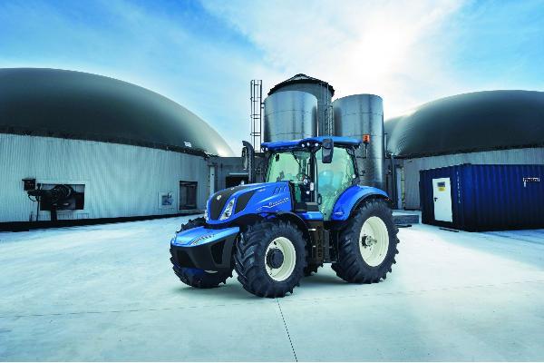 New Holland presentó en Agritechnica 2019 la primera unidad de producción del tractor T6 Methane Power en el mundo